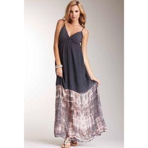 Gypsy 05 Charcoal Talya Silk Tye Dye Maxi Dress